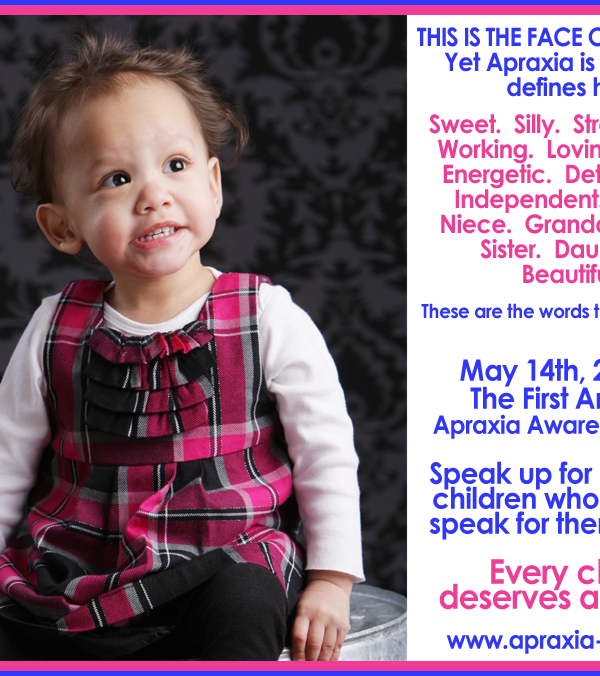 National Apraxia Awareness Day